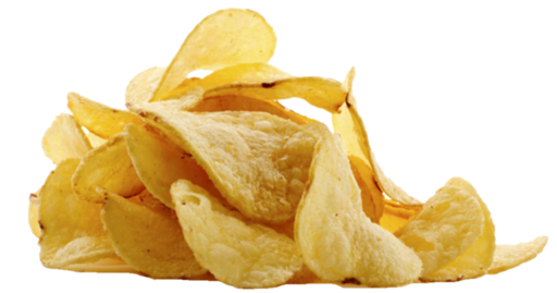 Crisps in a heap