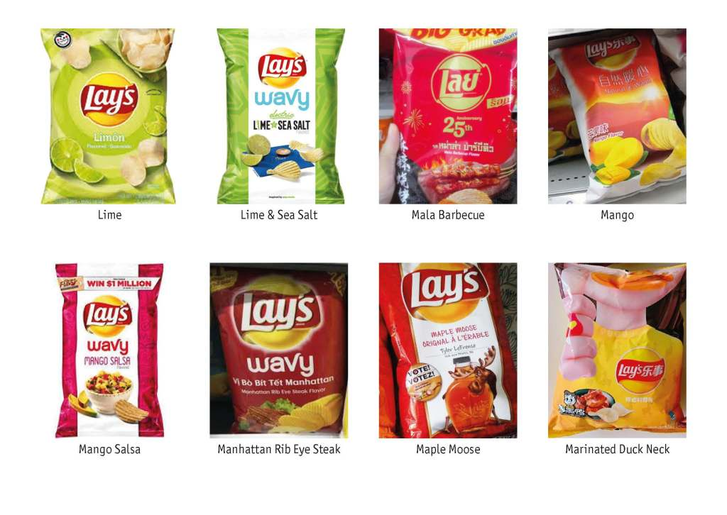 All Lay's Flavours