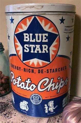 Blue Star tin