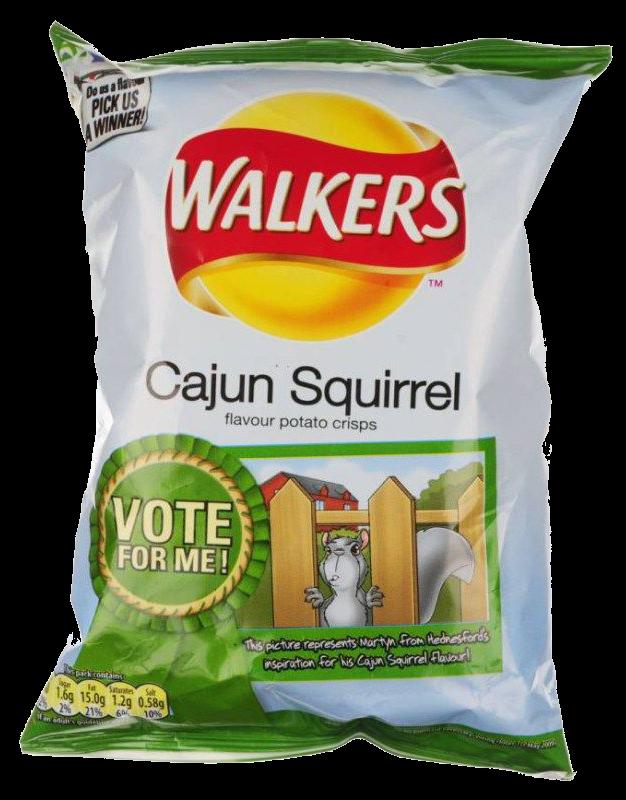 Cajun squirrel flavour crisps