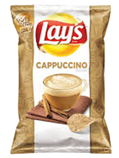 Cappuccino flavoured crisps