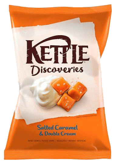 Salted caramel & double cream flavoured crisps