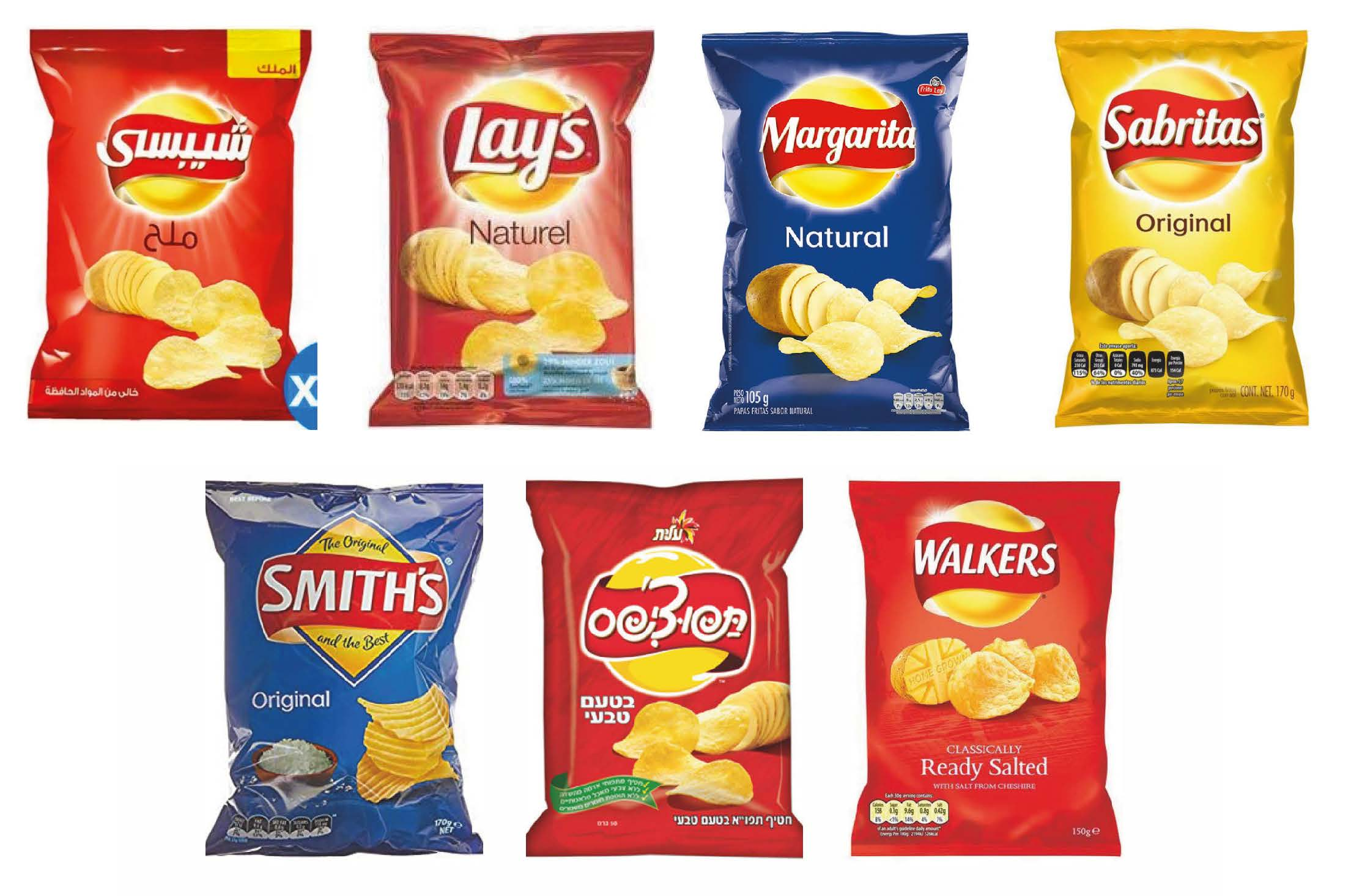 Lay's crisps and its sister brands