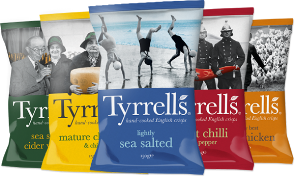 Tyrrell's crisps selection