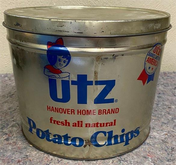 Old Utz tin