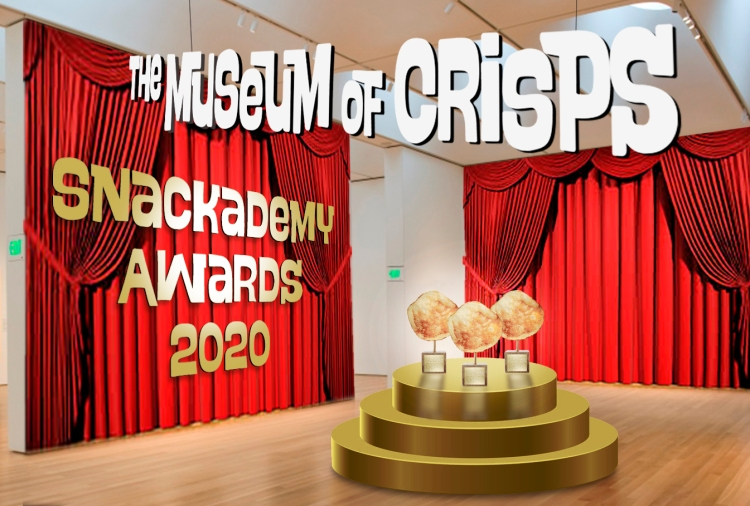 Picture of awards 2020 Snackademy Awards podium
