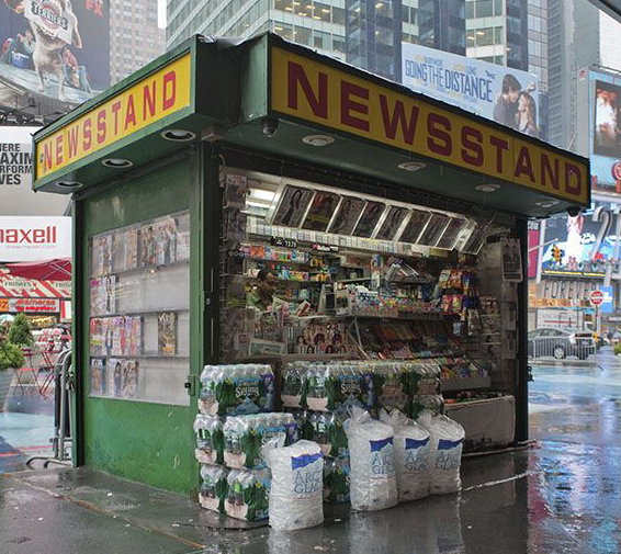 Old fashioned news stand