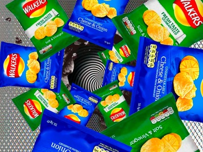 Graphic of crisp packets